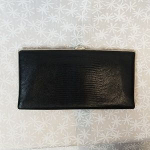 Lodis black textured leather wallet
